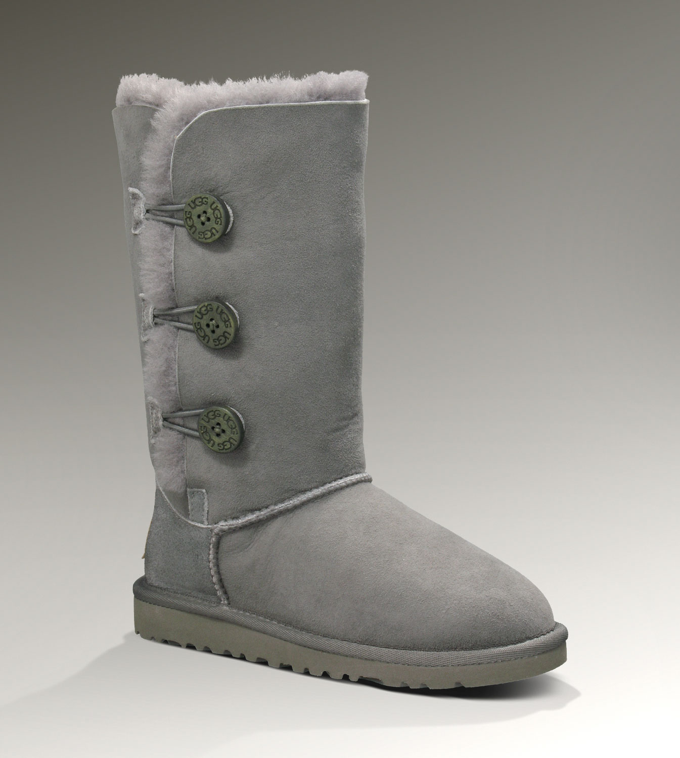 UGG Bailey Button Triplet 1962 Grey Boots